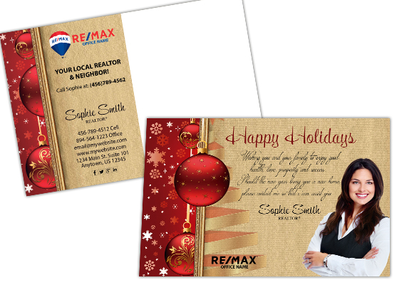 Remax Holiday Postcards | Remax Holiday Postcard Template, Remax Holiday Postcard Designs, Remax Holiday Postcard Printing, Remax Postcards