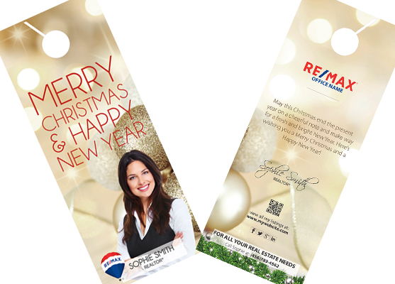 Remax Holiday Door Hangers | Remax Holiday Hangers, Remax Holiday Door Hanger Template, Remax Holiday Door Hanger Printing
