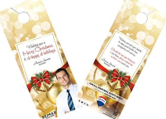Remax Holiday Door Hangers | Remax Holiday Hangers, Remax Holiday Door Hanger Template, Remax Holiday Door Hanger Printing